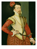 Robert Dudley (1532-88) 1st Earl of Leicester  C1560S (Oil on Panel)