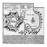 A Plan of the Dutch Fort at the Cape of Good Hope and a Draught of Table Bay (Engraving)