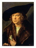 Portrait of an Unknown Man  1524 (Oil on Panel)