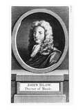 Portrait of John Blow (1649-1708) (Engraving)
