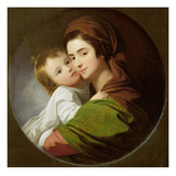 The Artist&#39;s Wife  Elizabeth  and their Son Raphael  C1773 (Oil on Canvas)