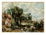 Sketch for 'The Haywain'  C1820 (Oil on Paper on Panel)