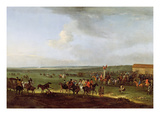 The Round Course at Newmarket  Preparing for the King's Plate  c1725