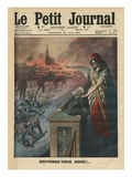 Disarmament of France  Jean Jaures and Marianne  Illustration from 'Le Petit Journal'