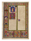 Fol195V Letter from St Paul to Cortina  from the Borso D'Este Bible Vol 2 (Vellum)