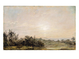 Hampstead Heath  Looking Towards Harrow  1821-22 (Oil on Paper Laid on Canvas)