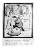 Rossetti Lamenting the Death of His Wombat  1869 (Pen and Ink on Paper)