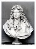 Bust of Jules Hardouin Mansart (1646-1708) 1698 (Marble) (B/W Photo)