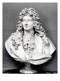 Bust of Jules Hardouin Mansart (1646-1708) 1698 (Marble) (B/W Photo)