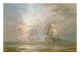 Men of War at Anchor  1873 (Oil on Canvas)
