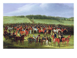 Epsom Races: the Betting Post (Oil on Canvas)