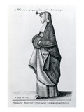 Woman of Quality from Antwerp  1643 (Etching)