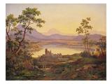 Italian Landscape (Oil on Board)
