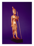 Statuette of the King  from the Tomb of Tutankhamun (C1370-1352 BC) New Kingdom (Gilded Wood)