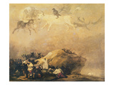 Capriccio Scene: Animals in the Sky (Oil on Canvas)