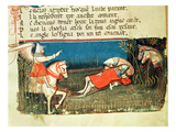 The Death of Roland  from a Venetian Codex (Vellum)