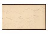 Valle Buona  North of Bordighera  C1884 (Pencil on Paper)