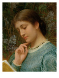 Girl Reading (Possibly Kate Dickens) (Oil on Canvas)