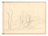 Country Lane with Trees (Pencil on Paper)
