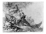 The Flight into Egypt  C1750 (Etching)