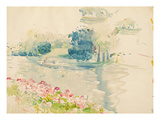 Geraniums by the Lake  1893 (W/C on Paper)