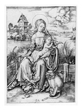 Madonna with the Monkey (Engraving)