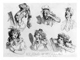 Six Stages of Making a Face'  Printed by SW Fores  1792 (Etching)