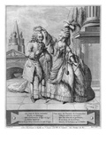Voltaire Crowned by Mademoiselle Clairon  Engraved by Jean Victor (B1718) 1791 (Engraving)
