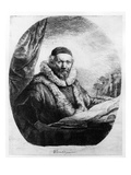 Jan Uytenbogaert  Preacher of the Remonstrants  1635 (Etching)