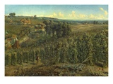The Hop-Gardens of England  C1875 (Oil on Canvas)