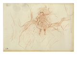 Perching in the Tree  1889 (Red Chalk on Paper)