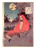 Meditation by Moonlight  (Colour Woodblock Print)