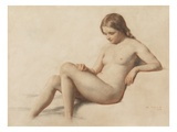Study of a Nude  1859 (Pencil on Paper)