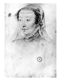 Catherine De Medici  C1560 (Pierre Noire and Red Chalk on Paper)
