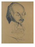 Adolphe D'Ennery (1811-99) after Nadar  1855-60 (Black Crayon on Paper)