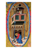 Historiated Initial 'D' Depicting Scenes from the Legend of a Saint  Late 14th Century  (Vellum)