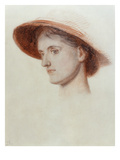 Study of the Artist's Wife Edith (Coloured Chalks on Paper)