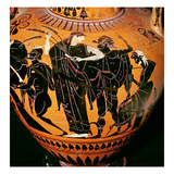 Attic Black-Figure Vase Depicting Synthos  Demeter  Hermes and the Boatman  C535-540 BC