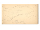 Hills in Norway  1895 (Pencil on Paper)