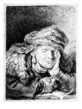 An Old Woman Sleeping  Etched by Francesco Novelli  C1790 (Etching)