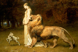Una and the Lion  from Spenser's Faerie Queene  1880 (Oil on Canvas)