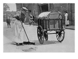 Women Roadsweepers  War Office Photographs  1916 (B/W Photo)