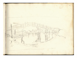 Footbridge on the Zaan Near Zaandam (Pencil on Paper)