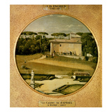 Casino of Raphael' in the Gardens of the Villa Borghese  Rome  1807