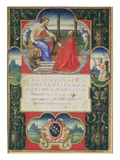 G Marcello Kneeling before St Marco and St Jerome and the Coat of Arms of the Marcello Familly
