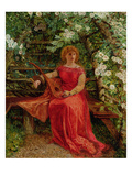 Fair Rosamund in Her Bower (Oil on Canvas)