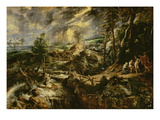 Landscape with Philemon and Baucis C1625 (Oil on Panel)