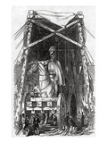 The Statue at Mr Wyatt's Foundry  Published in 'The Illustrated London News'  3rd October 1846