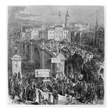 London Bridge  Engraved by Stephane Pannemaker  1875 (Engraving)