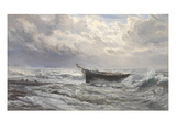 Stormy Seas  1874 (Oil on Canvas)